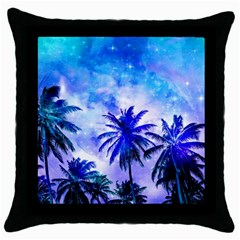 Summer Night Dream Throw Pillow Case (black) by augustinet