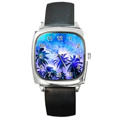 Summer Night Dream Square Metal Watch