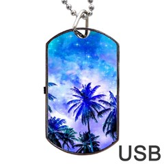 Summer Night Dream Dog Tag Usb Flash (two Sides) by augustinet