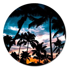 Palm Trees Summer Dream Magnet 5  (round)