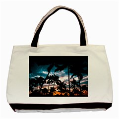 Palm Trees Summer Dream Basic Tote Bag (two Sides) by augustinet
