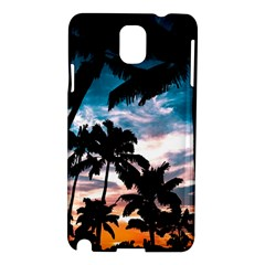 Palm Trees Summer Dream Samsung Galaxy Note 3 N9005 Hardshell Case by augustinet