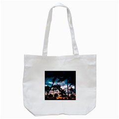 Palm Trees Summer Dream Tote Bag (white) by augustinet