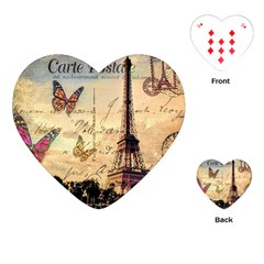 Vintage Paris Carte Postale Playing Cards (heart)  by augustinet