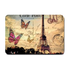 Vintage Paris Carte Postale Small Doormat  by augustinet