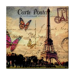Vintage Paris Carte Postale Face Towel by augustinet