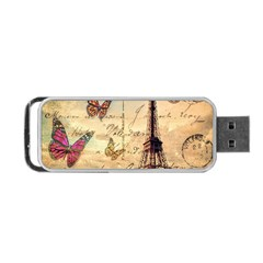 Vintage Paris Carte Postale Portable Usb Flash (two Sides) by augustinet