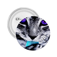 Purple Eyes Cat 2 25  Buttons by augustinet