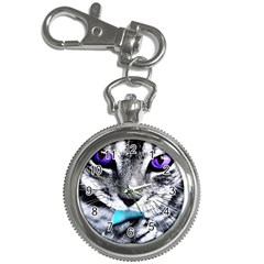 Purple Eyes Cat Key Chain Watches by augustinet
