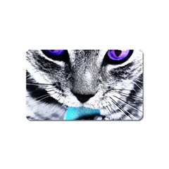 Purple Eyes Cat Magnet (name Card) by augustinet