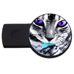 Purple Eyes Cat Usb Flash Drive Round (2 Gb) by augustinet