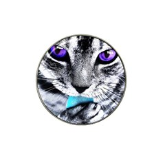 Purple Eyes Cat Hat Clip Ball Marker (4 Pack) by augustinet
