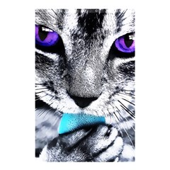 Purple Eyes Cat Shower Curtain 48  X 72  (small)  by augustinet