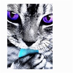 Purple Eyes Cat Small Garden Flag (two Sides) by augustinet