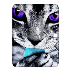 Purple Eyes Cat Samsung Galaxy Tab 4 (10 1 ) Hardshell Case  by augustinet