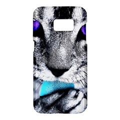 Purple Eyes Cat Samsung Galaxy S7 Hardshell Case
