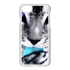 Purple Eyes Cat Apple Iphone 8 Seamless Case (white) by augustinet