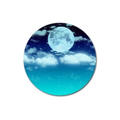 Dreamy Night Magnet 3  (round) by augustinet