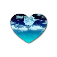 Dreamy Night Heart Coaster (4 Pack)  by augustinet