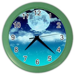Dreamy Night Color Wall Clocks by augustinet
