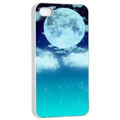 Dreamy Night Apple Iphone 4/4s Seamless Case (white) by augustinet