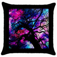 Star Field Tree Throw Pillow Case (black) by augustinet