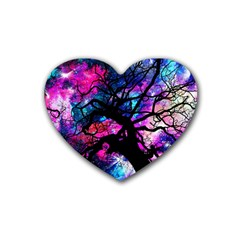 Star Field Tree Rubber Coaster (heart)  by augustinet