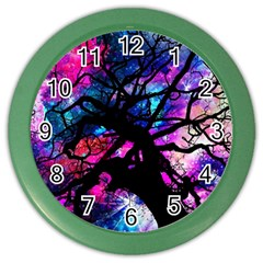 Star Field Tree Color Wall Clocks by augustinet