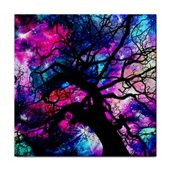 Star Field Tree Face Towel by augustinet