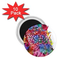 Rainbow Owl 1 75  Magnets (10 Pack)  by augustinet