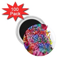 Rainbow Owl 1 75  Magnets (100 Pack)  by augustinet