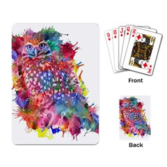 Rainbow Owl Playing Card by augustinet