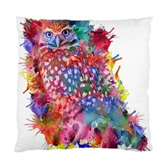Rainbow Owl Standard Cushion Case (two Sides) by augustinet