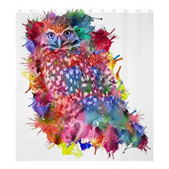Rainbow Owl Shower Curtain 66  X 72  (large)  by augustinet