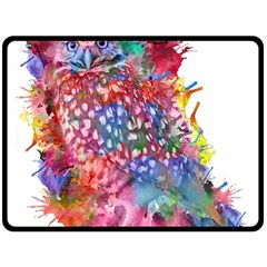 Rainbow Owl Fleece Blanket (large)