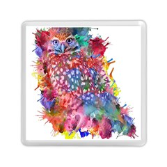 Rainbow Owl Memory Card Reader (square)  by augustinet