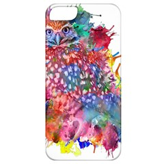 Rainbow Owl Apple Iphone 5 Classic Hardshell Case by augustinet