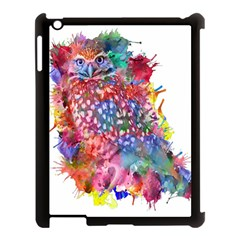 Rainbow Owl Apple Ipad 3/4 Case (black) by augustinet