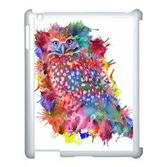 Rainbow Owl Apple Ipad 3/4 Case (white) by augustinet