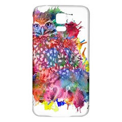 Rainbow Owl Samsung Galaxy S5 Back Case (white) by augustinet