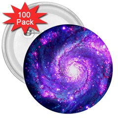 Ultra Violet Whirlpool Galaxy 3  Buttons (100 Pack)  by augustinet
