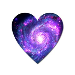 Ultra Violet Whirlpool Galaxy Heart Magnet by augustinet