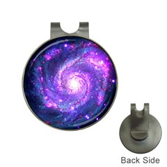 Ultra Violet Whirlpool Galaxy Hat Clips With Golf Markers by augustinet