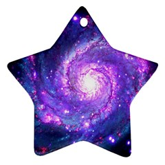 Ultra Violet Whirlpool Galaxy Star Ornament (two Sides) by augustinet
