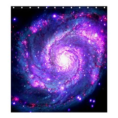Ultra Violet Whirlpool Galaxy Shower Curtain 66  X 72  (large)  by augustinet