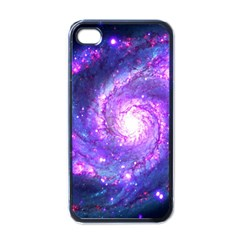Ultra Violet Whirlpool Galaxy Apple Iphone 4 Case (black) by augustinet