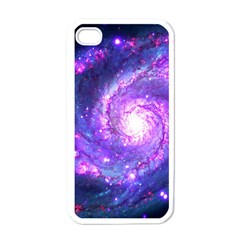 Ultra Violet Whirlpool Galaxy Apple Iphone 4 Case (white) by augustinet