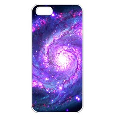 Ultra Violet Whirlpool Galaxy Apple Iphone 5 Seamless Case (white) by augustinet
