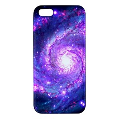 Ultra Violet Whirlpool Galaxy Apple Iphone 5 Premium Hardshell Case by augustinet