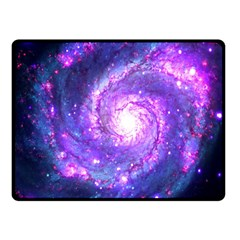 Ultra Violet Whirlpool Galaxy Double Sided Fleece Blanket (small)  by augustinet